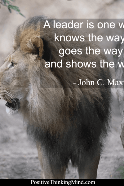 A leader is one who knows the way, goes the way and shows the way – John C Maxwell