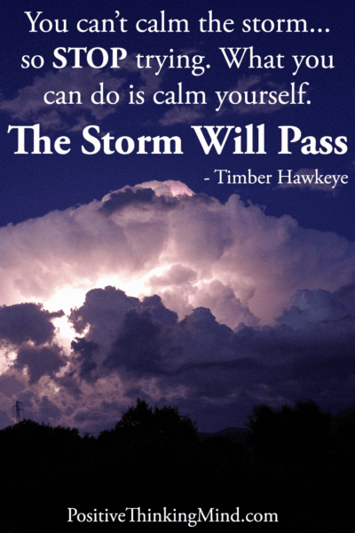 You can't calm the storm so STOP trying – Timber Hawkeye